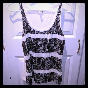 Express Lace and Sequin Tank